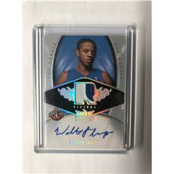 2008-09 Hot Prospects Walter Sharpe RPA PRIME PATCH RELIC AUTO RC #132