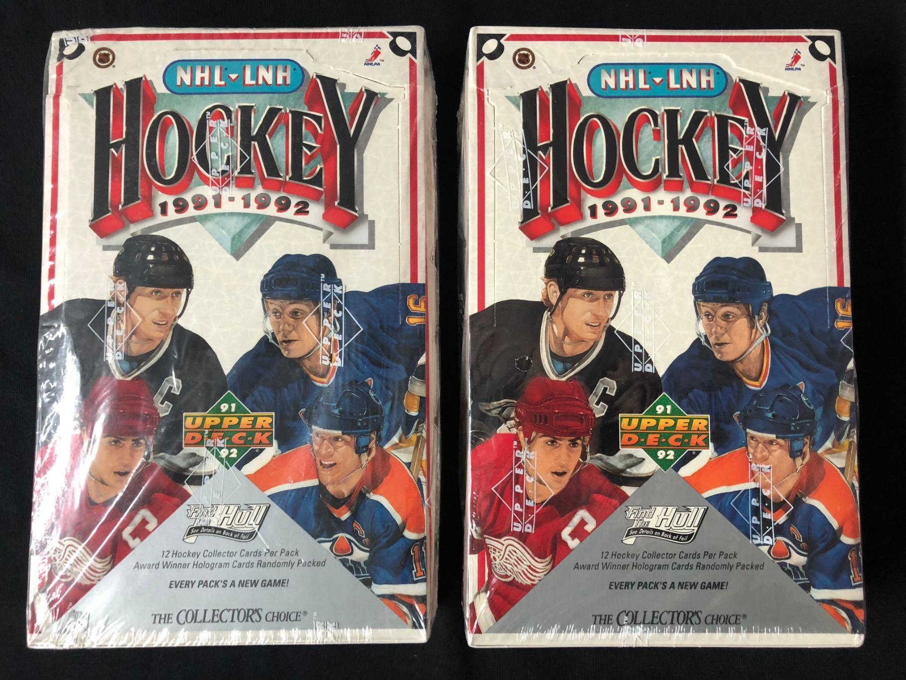 1991 92 Upper Deck Hockey Card Box Lot