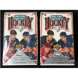 1991-92 UPPER DECK HOCKEY CARD BOX LOT