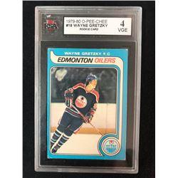 1979-80 O-Pee-Chee #18 Wayne Gretzky Rookie Card (4 VGE)