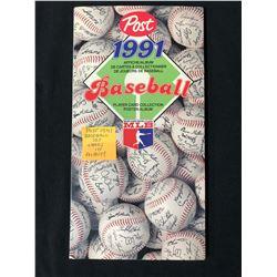 POST 1991 BASEBALL CARD SET (CARDS IN ALBUM)