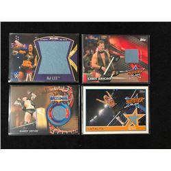 WWE INSERT RELIC MAT CARD LOT