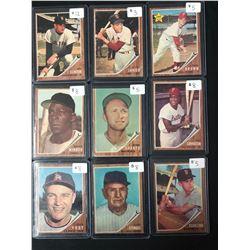 1962 TOPPS BASEBALL CARD LOT