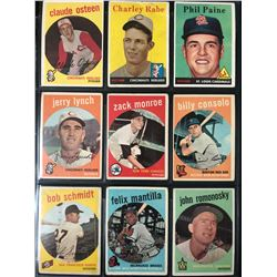 1959 TOPPS BASEBALL CARD LOT