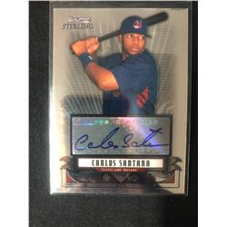 2008 Bowman Sterling Prospects #BSP-CSA Carlos Santana Cleveland Indians Auto