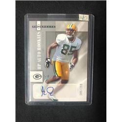 2006 Fleer Hot Prospects #190 Greg Jennings Green Bay Packers Auto Football Card