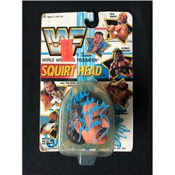 Vintage 1990 Multi Toys WWF Squirt Heads Jake the Snake Roberts Autographed