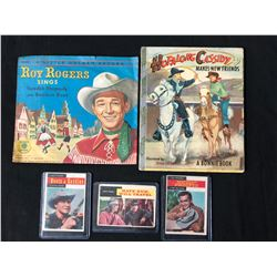 OLD WEST COLLECTIBLES LOT (RECORD/ BOOK/ CARDS)