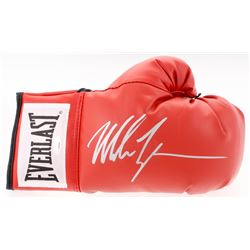 MIKE TYSON AUTOGRAPHED RED EVERLAST BOXING GLOVE W/ COA