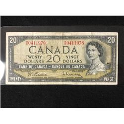 1954 CANADIAN $20 BANK NOTE