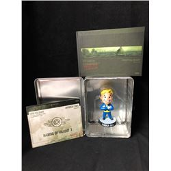 FALLOUT 3 RARE VAULT BOY BOBBLEHEAD FROM COLLECTOR'S EDITION  W/ ZELDA LUNCHBOX