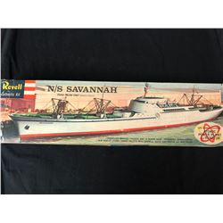 "Revell ""S"" Kit 1958 N/S Savannah Nuclear Cargo Ship 1st Issue"