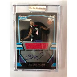 2003 TOPPS BASKETBALL BOWMAN SIGNATURES #78 CHRIS BOSH AUTOGRAPHED CARD (0549/1250)