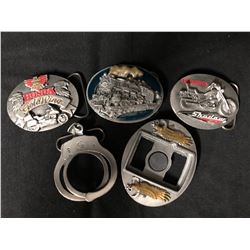 SISKIYOU LIMITED EDITION BELT BUCKLES LOT (MOTORCYCLES)