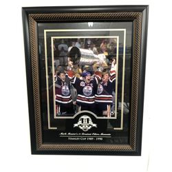 LTD. EDITION MARK MESSIER SIGNED PRECIOUS MOMENTS 20 X 24 CUSTOM FRAMED DISPLAY