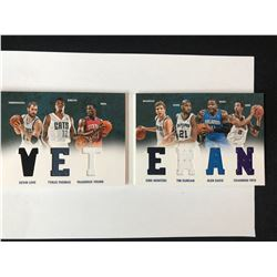 2012-13 Panini Preferred - Veteran Material Booklet #4 Love, Davis, Nowitzki, Duncan, Young, Frye