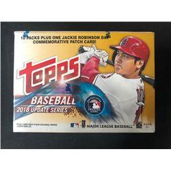 2018 Topps Baseball UPDATE Series MLB Cards Blaster Box + 1-J.R. Patch Card