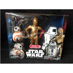 "Target Exclusive Star Wars Force Awakens 12"" C-3po BB-8 RO-4LO Figure Set"