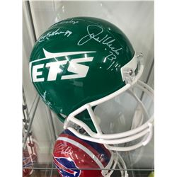 """Jets """"New York Sack Exchange"""" Full-Size Throwback Helmet Signed by (4)"""