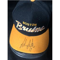 ADAM OATES SIGNED BOSTON BRUINS BALL CAP W/ COA