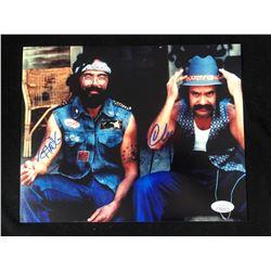 "Tommy Chong & Cheech Marin Signed ""Up in Smoke"" 8x10 Photo Inscribed ""19"" (JSA COA)"