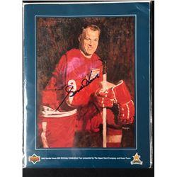 1993 Upper Deck Gordie Howe's 65th Birthday Tour Program Signed
