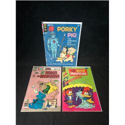 COMIC BOOK LOT (PORKY PIG/ WOODY WOODPECKER/ PEBBLES & BAM BAM)