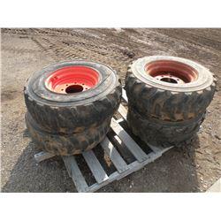 10x16.5 Bobcat tires w/rims