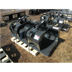 """Stout 72"""" grapple bucket w/hose ends-New"""