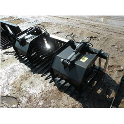 """Brute 79"""" brush/rock grapple -tines 4 1/2"""" on center-New"""
