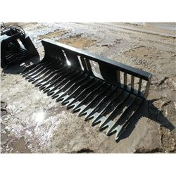 """Brute 83"""" rock bucket -tines 4"""" on center -New"""