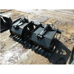 """Brute 66"""" rock/brush grapple -tines 4 1/2"""" on center -New"""