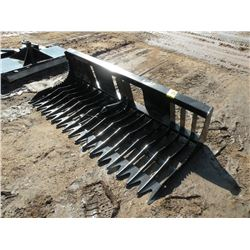 """Brute 74"""" rock bucket -tines 4 1/2"""" on center -New"""