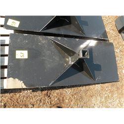 Receiver plate for skidloader -New