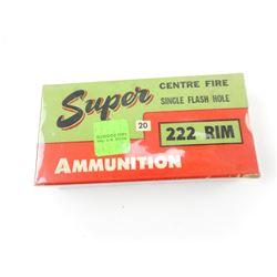 SUPER AMMUNITION 222 RIM AMMO