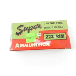 SUPER AMMUNITION 222 RIM AMMO