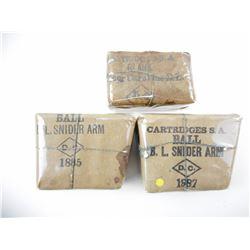 B.L. SNIDER ARM CARTRUDGES S.A. BALL, BLANKS