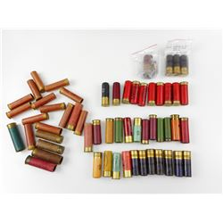 ASSORTED PAPER COLLECTIBLE SHOTGUN SHELLS