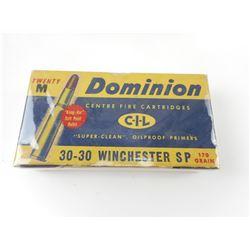 DOMINION 30-30 WINCHESTER SP AMMO