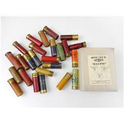 ASSORTED SHOTGUN SHELLS, PLASTIC GEVELOT REDI-PAC