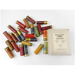ASSORTED SHOTGUN SHELLS, PLASTIC GEVELOT REDI-PAC