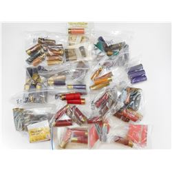 ASSORTED PAPER SHOTGUN SHELL EMPTIES,  PRIMED, RELOADING WADS