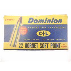 DOMINION 22 HORNET AMMO