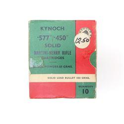 KYNOCH .577/450 MARTINI-HENRY AMMO