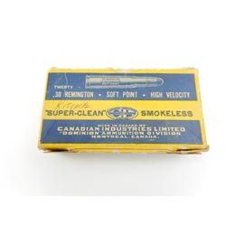 C.I.L. SUPER CLEAN 30 REM. AMMO