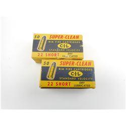 C.I.L. SUPER CLEAN 22 SHORT AMMO