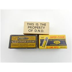 C.I.L. SUPER CLEAN/PROPERTY DND 22 LONG RIFLE AMMO
