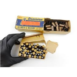 DOMINION 32 SMITH & WESSON LONG AMMO, 38 SMITH & WESSON BRASS