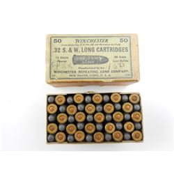 WINCHESTER 32 S & W LONG CENTRE FIRE AMMO