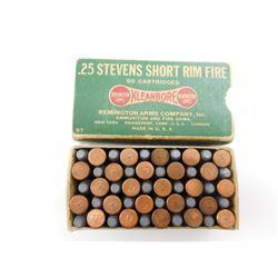 REMINGTON 25 STEVENS SHORT RIM FIRE AMMO